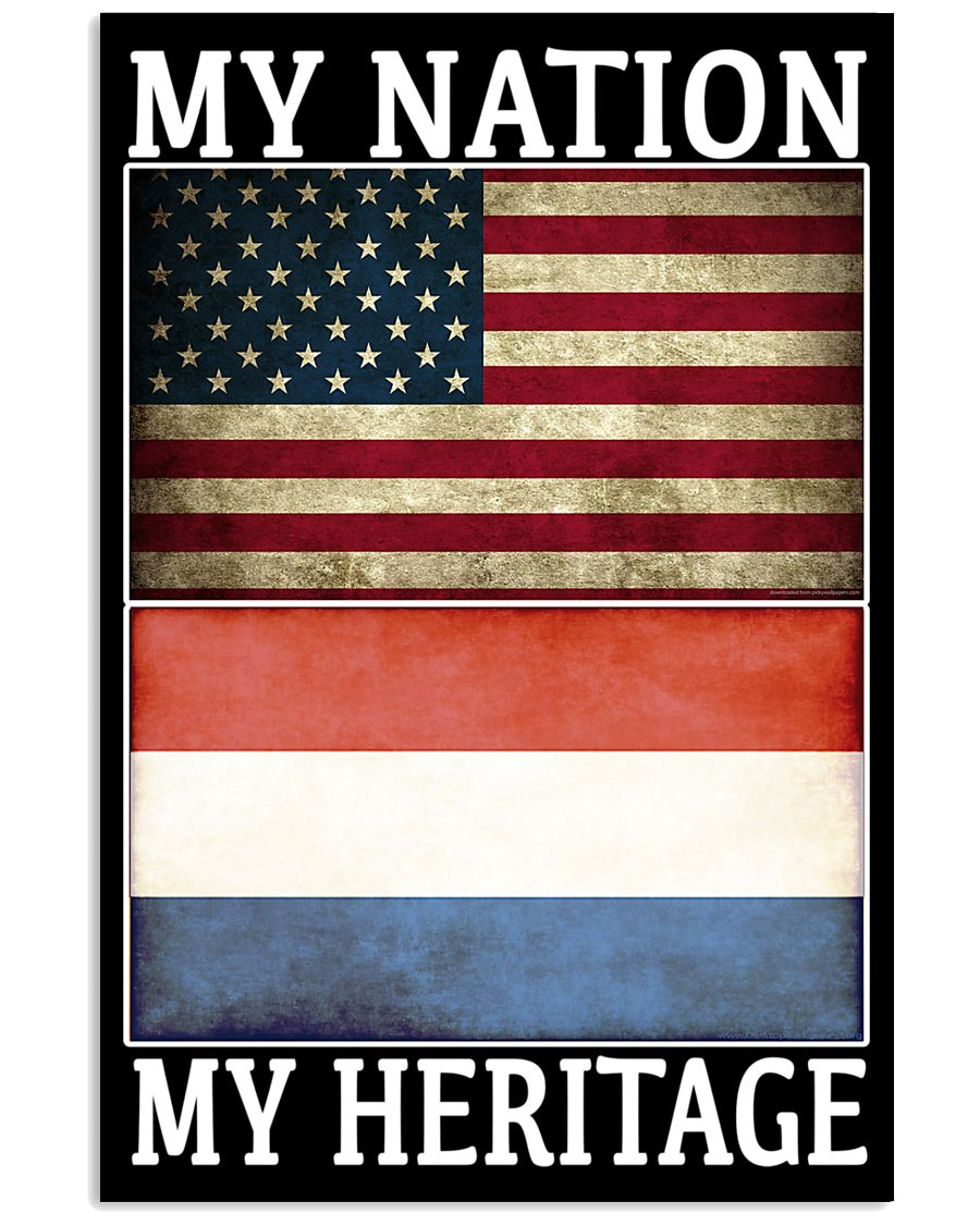 AMERICA MY NATION THE NETHERLANDS MY HERITAGE 24x36 Poster