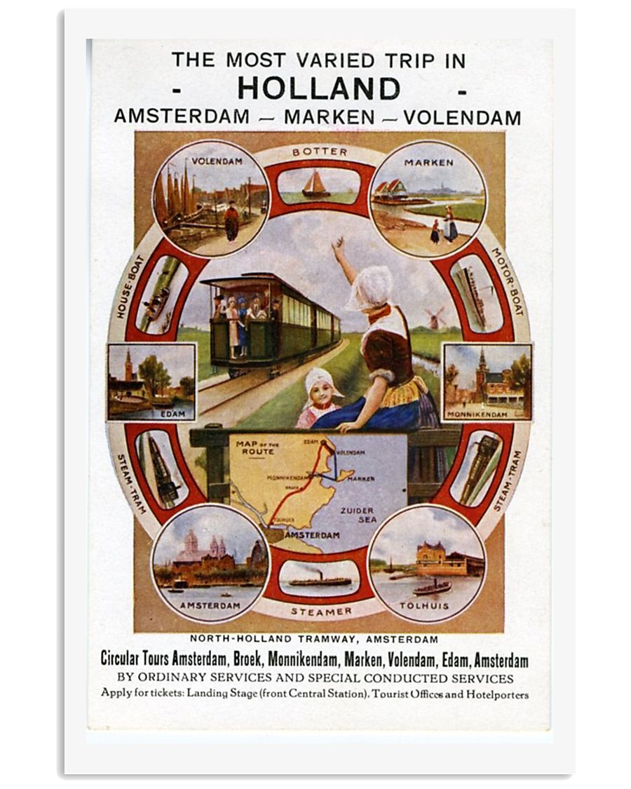 HOLLAND VINTAGE TRAVEL 1945 11x17 Poster