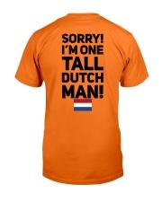 TALL DUTCH MAN Classic T-Shirt back