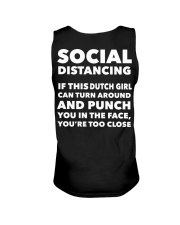 SOCIAL DISTANCING IF THIS DUTCH GIRL CAN TURN Unisex Tank thumbnail