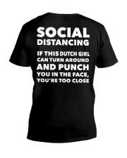 SOCIAL DISTANCING IF THIS DUTCH GIRL CAN TURN V-Neck T-Shirt thumbnail