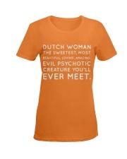 DUTCH WOMAN FUNNY Ladies T-Shirt women-premium-crewneck-shirt-front