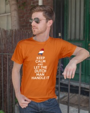 KEEP CALM AND LET THE DUTCH MAN HANDLE IT Classic T-Shirt lifestyle-mens-crewneck-front-2
