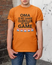 OMA IS MY NAME OLIEBOLLEN IS MY GAME Classic T-Shirt apparel-classic-tshirt-lifestyle-31