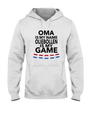OMA IS MY NAME OLIEBOLLEN IS MY GAME Hooded Sweatshirt thumbnail