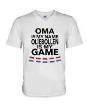 OMA IS MY NAME OLIEBOLLEN IS MY GAME V-Neck T-Shirt thumbnail