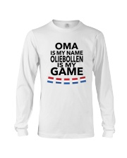 OMA IS MY NAME OLIEBOLLEN IS MY GAME Long Sleeve Tee thumbnail