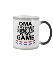 OMA IS MY NAME OLIEBOLLEN IS MY GAME Color Changing Mug thumbnail