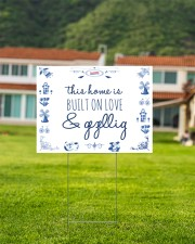 THIS HOME IS BUILT ON LOVE AND GEZELLIG 24x18 Yard Sign aos-yard-sign-24x18-lifestyle-front-03