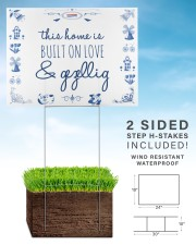 THIS HOME IS BUILT ON LOVE AND GEZELLIG 24x18 Yard Sign aos-yard-sign-24x18-lifestyle-front-29