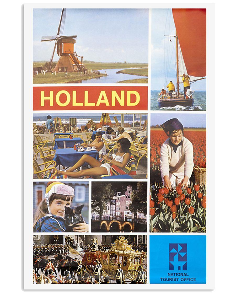 HOLLAND VINTAGE TRAVEL 1960 11x17 Poster