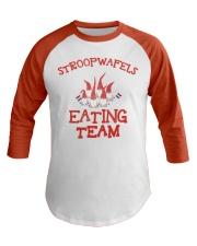 STROOPWAFELS EATING TEAM Baseball Tee front