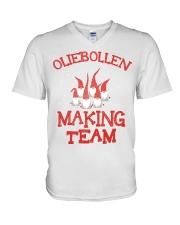 OLIEBOLLEN MAKING TEAM V-Neck T-Shirt thumbnail
