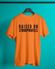 RAISED ON STROOPWAFELS Classic T-Shirt lifestyle-mens-crewneck-front-3