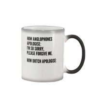 HOW ANGLOPHONES APOLOGISE: I'M SO SORRY PLEASE Color Changing Mug thumbnail