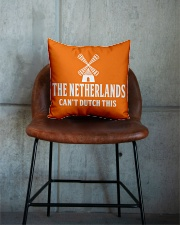 THE NETHERLANDS CAN'T DUTCH THIS Square Pillowcase aos-pillow-square-front-lifestyle-04