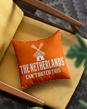 THE NETHERLANDS CAN'T DUTCH THIS Square Pillowcase aos-pillow-square-front-lifestyle-07