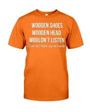 WOODEN SHOES WOODEN HEAD Classic T-Shirt front