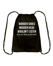 WOODEN SHOES WOODEN HEAD Drawstring Bag thumbnail