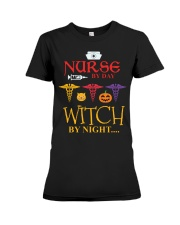 Nurse By Day Witch By Night Premium Fit Ladies Tee thumbnail