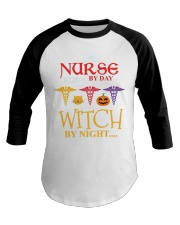 Nurse By Day Witch By Night Baseball Tee thumbnail