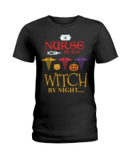 Nurse By Day Witch By Night Ladies T-Shirt thumbnail