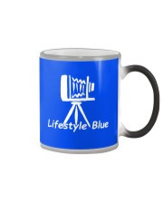Lifestyle Blue Mug Color Changing Mug tile