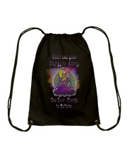 Buddha Spiritual Quote Rainbow Enlightenment Drawstring Bag tile