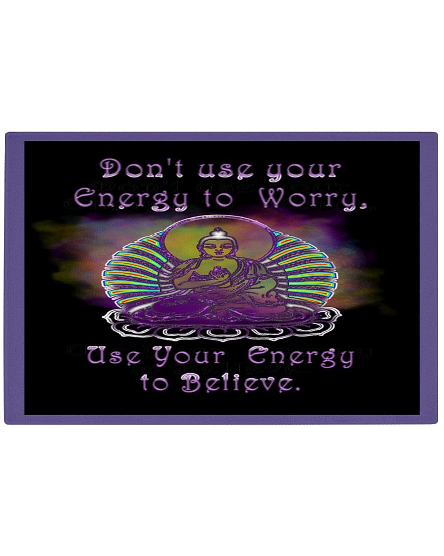 Buddha Spiritual Quote Rainbow Enlightenment Rectangle Cutting Board