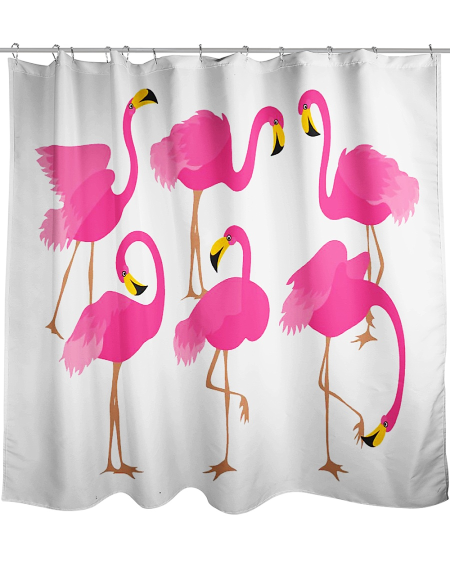 Awesome Flamingo Curtains Shower Curtain