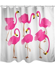Awesome Flamingo Curtains Shower Curtain front