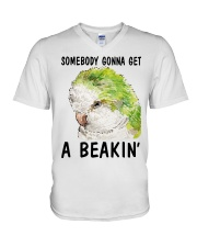 Some body gonna get a beakin V-Neck T-Shirt thumbnail