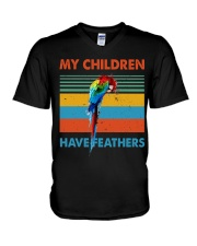 My children have feathers V-Neck T-Shirt thumbnail