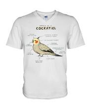 Cockatiel V-Neck T-Shirt thumbnail