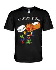 Happy pills V-Neck T-Shirt thumbnail