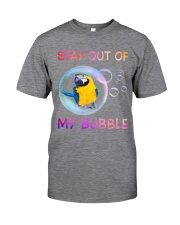 Stay out of my bubble Classic T-Shirt tile