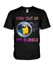 Stay out of my bubble V-Neck T-Shirt thumbnail