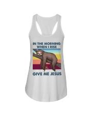 Sloth jesus Ladies Flowy Tank thumbnail