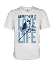 Where there is love you will find a life V-Neck T-Shirt thumbnail