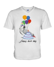 Happy bird day V-Neck T-Shirt thumbnail