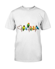 Parrot heart beat Classic T-Shirt tile