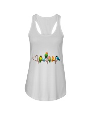 Parrot heart beat Ladies Flowy Tank thumbnail
