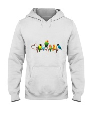 Parrot heart beat Hooded Sweatshirt thumbnail
