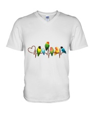 Parrot heart beat V-Neck T-Shirt thumbnail