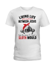 Sloth would Ladies T-Shirt front
