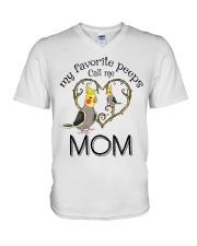Parrot mom V-Neck T-Shirt thumbnail