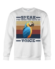 Speak for those who have no voice Crewneck Sweatshirt thumbnail
