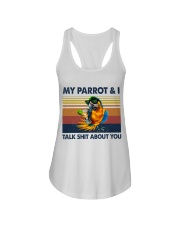 My parrot and i talk sh about you Ladies Flowy Tank thumbnail
