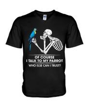 I talk to my parrot V-Neck T-Shirt thumbnail