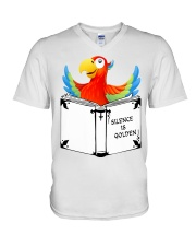 Silence is golden V-Neck T-Shirt thumbnail